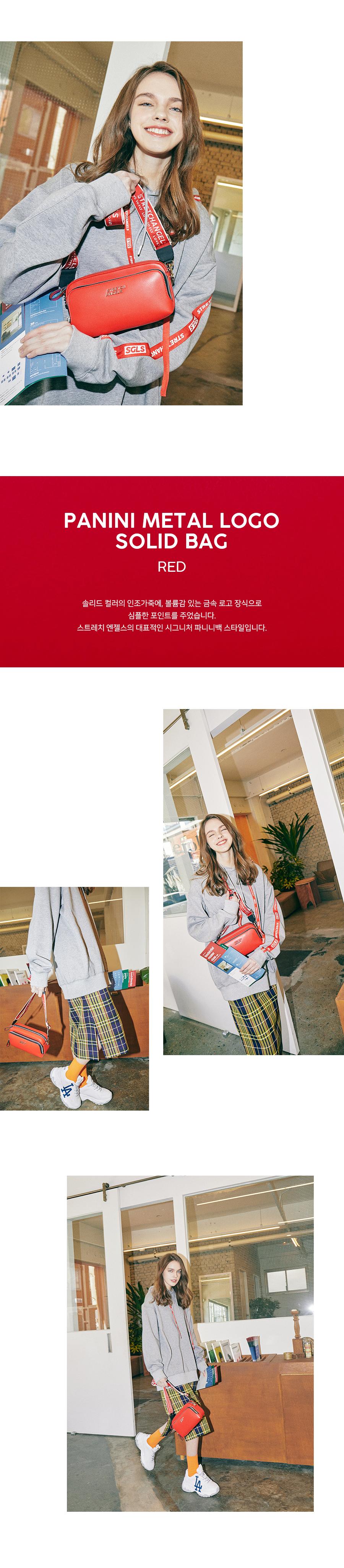 스트레치 엔젤스(STRETCH ANGELS) [파니니백]PANINI metal logo solid bag (Red)