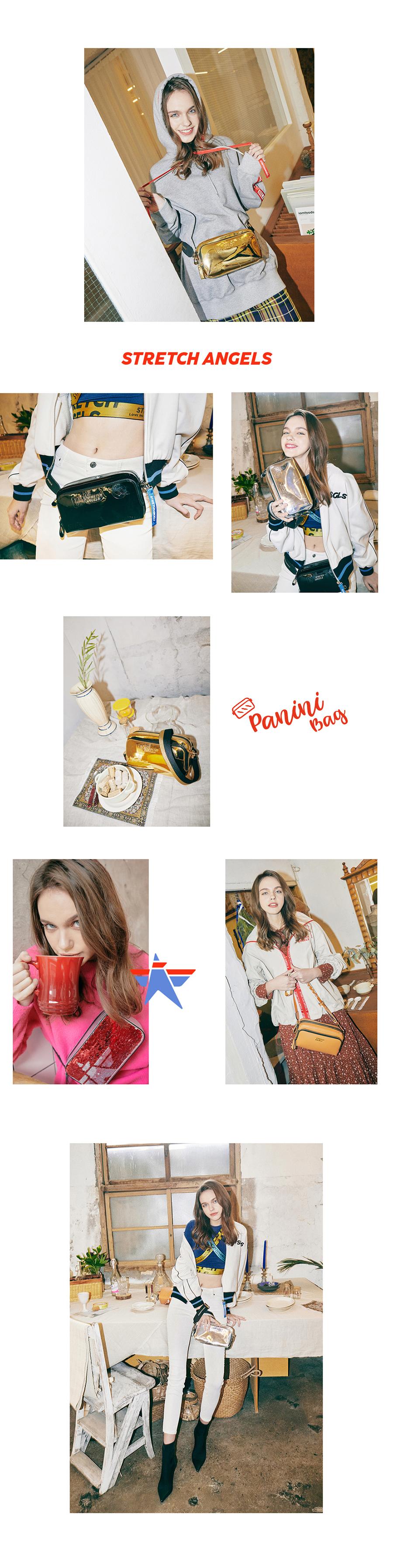 스트레치 엔젤스(STRETCH ANGELS) [파니니백]PANINI mix pattern press bag (Silver)
