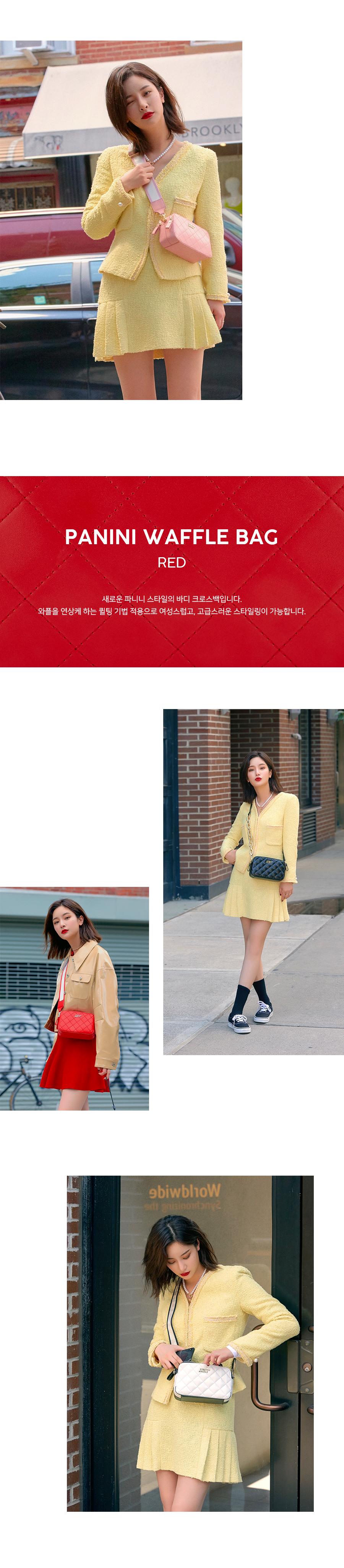 스트레치 엔젤스(STRETCH ANGELS) [파니니백]PANINI waffle bag (Red)