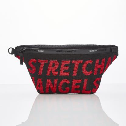 [S.K.N] Logo point knit fanny-bag M (Red)