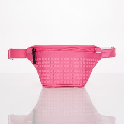 [S.P.U] Block volume fanny-bag (Pink)