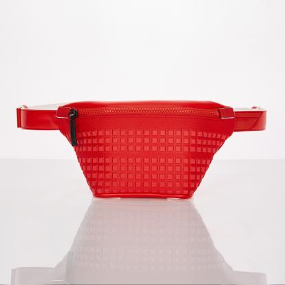 [S.P.U] Block volume fanny-bag (Red)