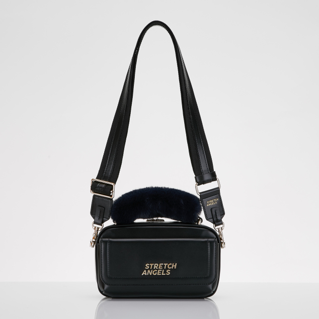 Flap PANINI bag (Black/gold)