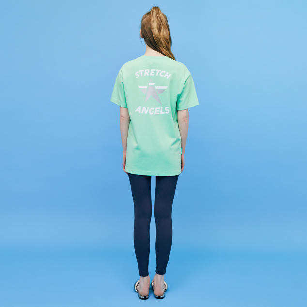 Simple logo loose fit T-shirts (Lime)