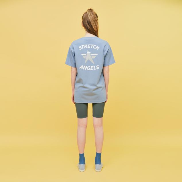 Simple logo loose fit T-shirts (Light blue)