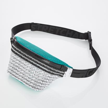 [S.K.N] Dot stripe knit fanny-bag S (Green)