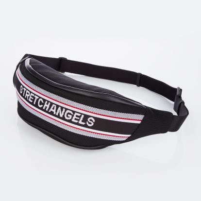 [S.K.N] Logo lining fanny-bag L (Black)
