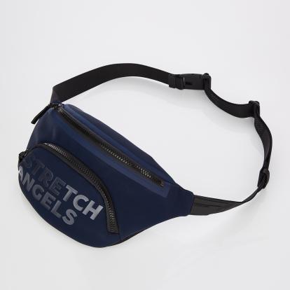 [S.P.U] Round pocket fanny bag (Navy)