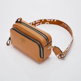 PANINI metal logo solid bag (Camel)