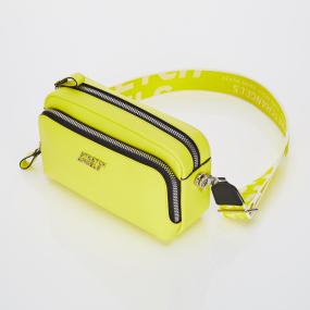 PANINI metal logo solid bag (Light yellow)