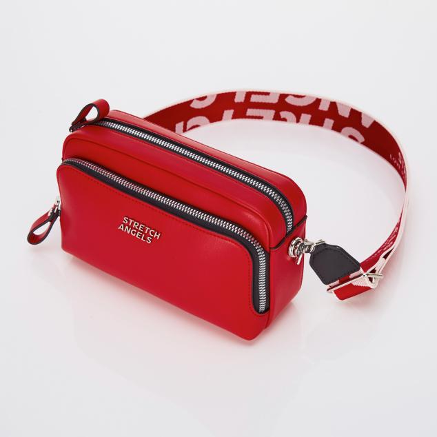 PANINI metal logo solid bag (Red)