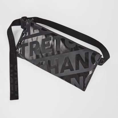 [L.P.Y] Diagonal logo SQ slim belt-bag (Black)