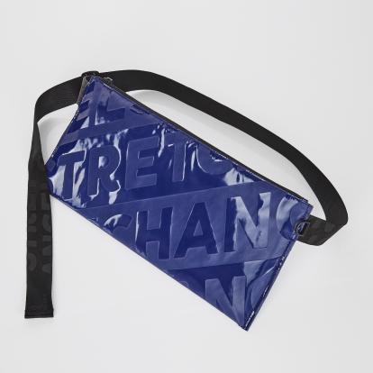 [L.P.Y] Diagonal logo SQ slim belt-bag (Dark blue)