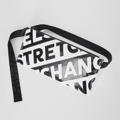 [L.P.Y] Diagonal logo SQ slim belt-bag (White)