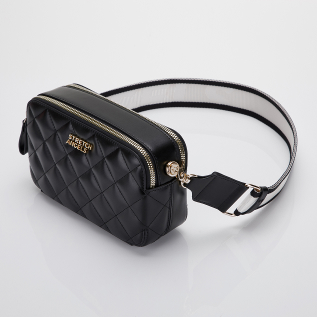 PANINI waffle bag (Black/Gold)