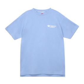 심플 로고 루즈핏 티셔츠 (라이트 블루)