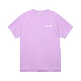 심플 로고 루즈핏 티셔츠 (라이트 바이올렛)