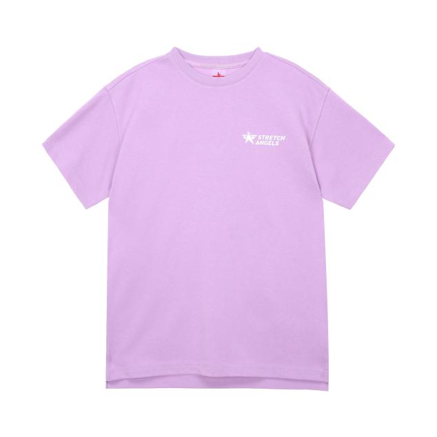 Simple logo loose fit T-shirts (Light violet)
