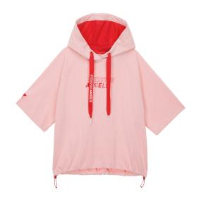 베이직 크롭 후드 티셔츠 (라이트 핑크)