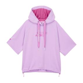 Basic crop hood T-shirts (Light violet)