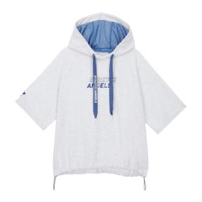 Basic crop hood T-shirts (M.grey)