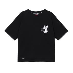 Minnie-mouse crop T-shirts (Black)