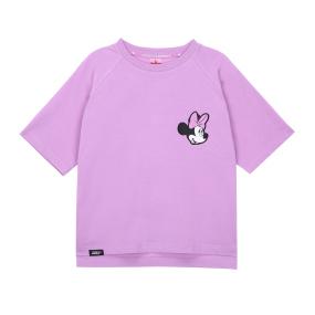 미니 마우스 크롭 티셔츠 (라이트 바이올렛)