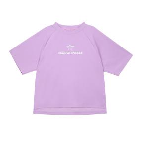 SA 베이직 세미 크롭 티셔츠 (라이트 바이올렛)