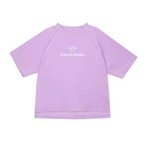 SA basic semi-crop T-shirts (Light violet)