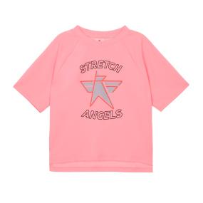 SA daily semi-crop T-shirts (Light pink)