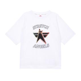 SA daily semi-crop T-shirts (Off white)