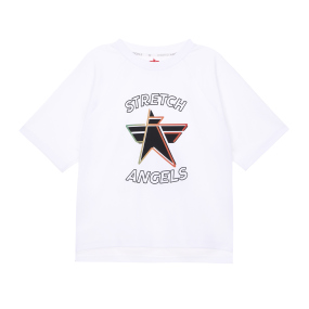 SA 데일리 세미 크롭 티셔츠 (오프화이트)