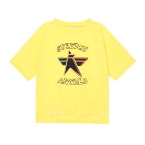 SA daily semi-crop T-shirts (Yellow)