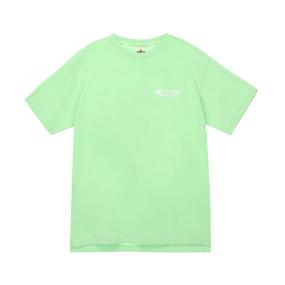심플 로고 루즈핏 티셔츠 (라임)